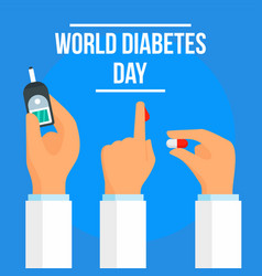 Global diabetes day concept background flat style vector