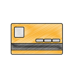 grated finance credit card economy technology vector image