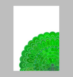 Green abstract floral mandala page background vector