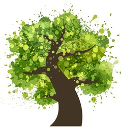 Grunge colorful tree vector image