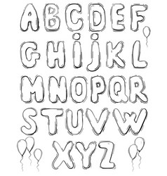 hand drawing lettering on white vector image