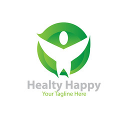 happy healthy logo designs vector image