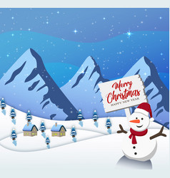 happy new year merry christmas 2019 on blue backgr vector image
