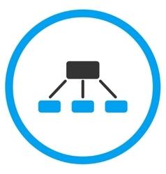 Hierarchy Flat Icon vector image