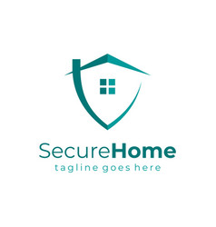 home security logo real estate logo template flat vector image