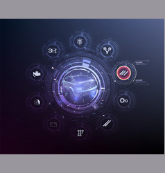 hud ui abstract virtual graphic touch user vector image