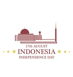 Independence Day Indonesia vector image