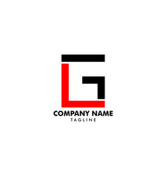 initial letter lg logo template design vector image