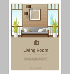 Interior design Modern living room banner 7 vector image