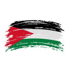 Jordan flag in grunge brush stroke vector