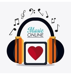 Music online and media design vector