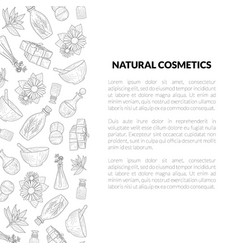 natural cosmetics banner template with place for vector image