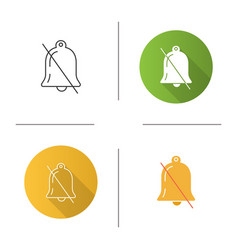 Notifications off icon vector