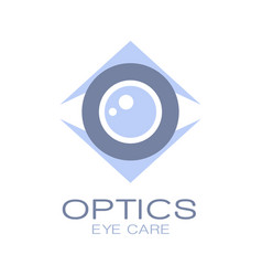 Optics logo symbol oculist sign vector