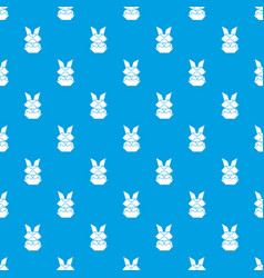 origami bunny pattern seamless blue vector image