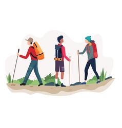 outdoor activity hiking vector image