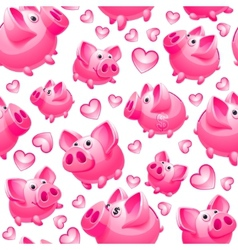 piggy bank background seamless vector image