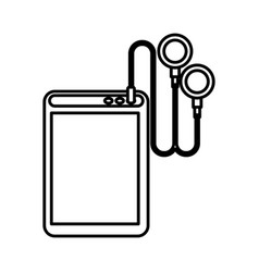 player mp3 isolated icon vector image