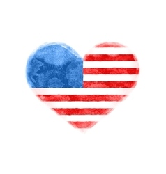 Poster of watercolor heart shape United State vector