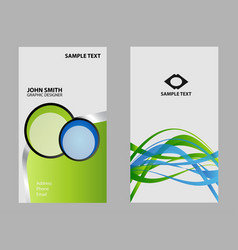 professional corporate business card design vector image