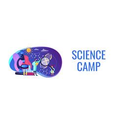Science camp concept banner header vector