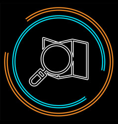search map icon - location pin vector image