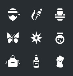Set of tattoo salon icons vector