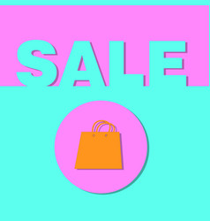 shopping bag and the sale word vector image