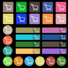 Shopping cart icon sign Set from twenty seven vector image