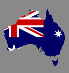 silhouette country borders map of australia on vector image
