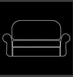 Sofa the white path icon vector