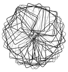 Spiral vortex swirl or twirl abstract monochrome vector
