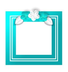 spring foliage and floral elements frame vector image