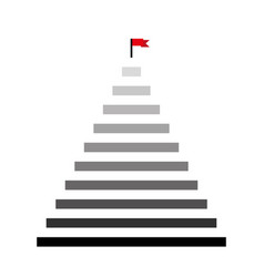 Steps icon isolated on white background for your vector