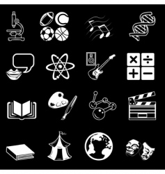 Subject icons vector