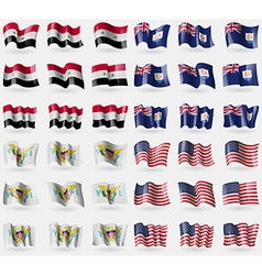 Syria Anguilla VirginIslandsUS USA Set of 36 flags vector