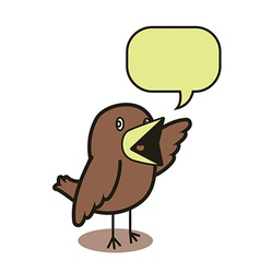 Talking bird 01 vector image