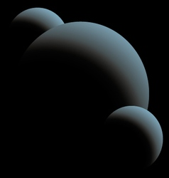 Three blue planet in the night vector image
