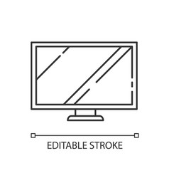 tv wide screen linear icon vector image