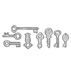 vintage key set vector image
