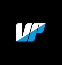 Vp letter logo design on black background vp vector