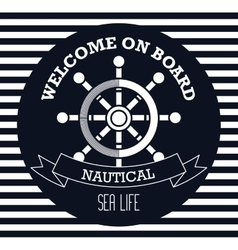 Welcome on board emblem design vector