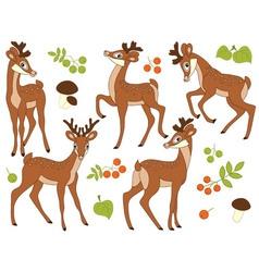 Woodland Deers vector