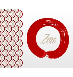 Zen circle background vector image