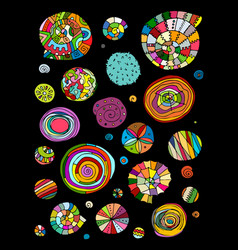 abstract design elements spirals and circles vector image vector image