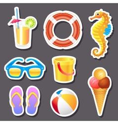 Beach stickers vector image vector image