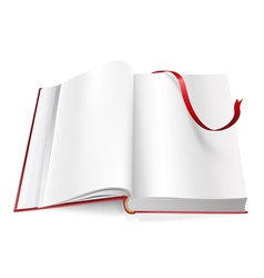 book with blank pages and sign vector image vector image
