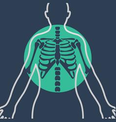chest x-ray logo icon design vector image vector image