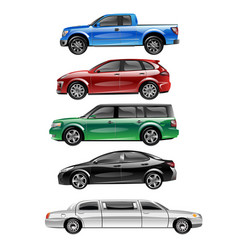 different passenger car vector image vector image