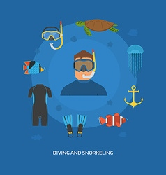 Diving and Snorkeling Concept vector image